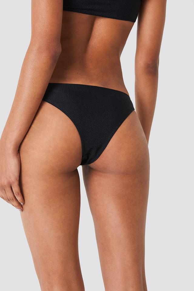 Structured Bikini Panty Black