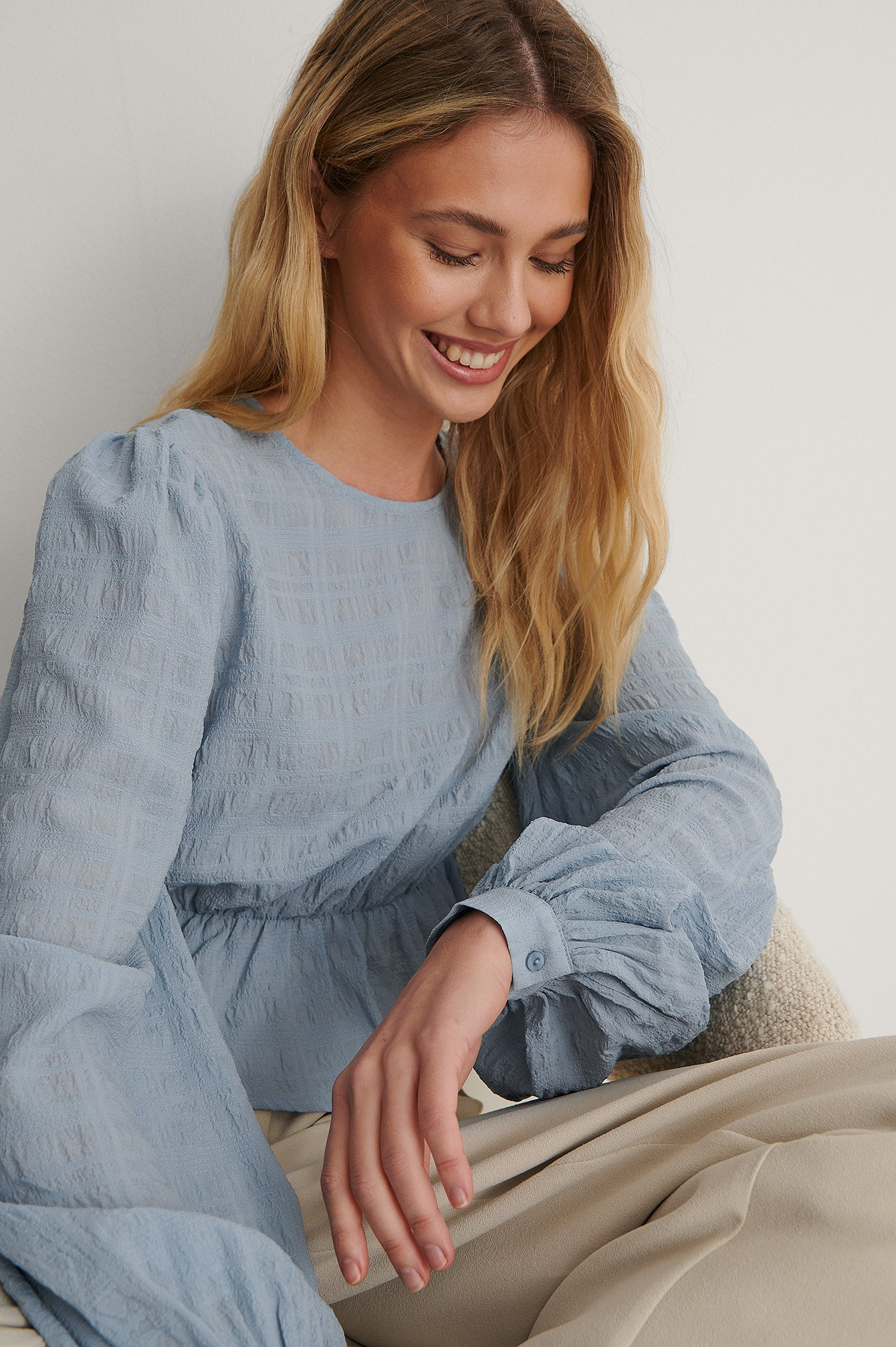 Dusty Blue Bluse