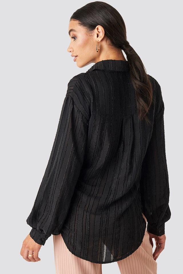 Structured Blouse Black