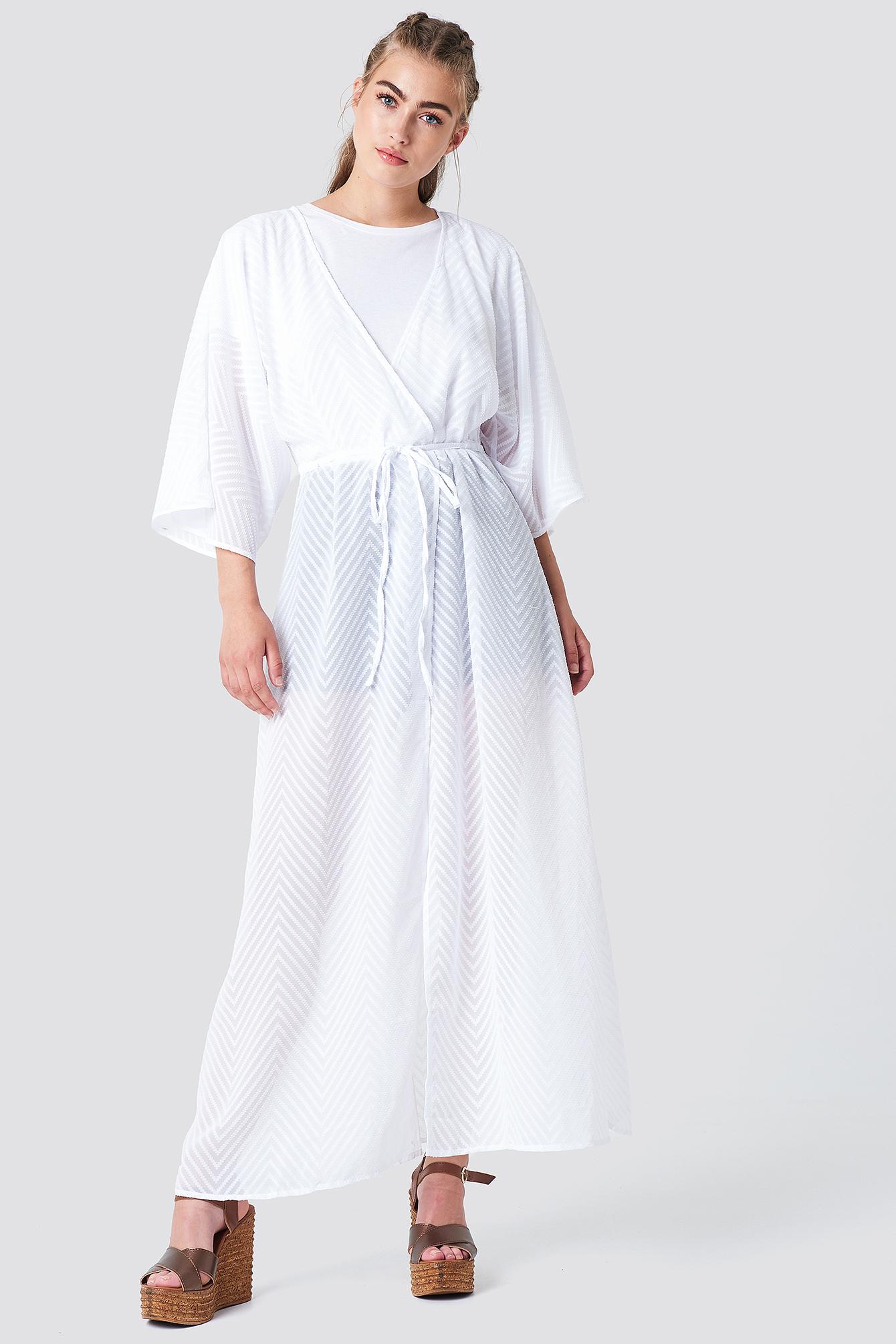 Structured Chiffon Coat Dress NA-KD.COM