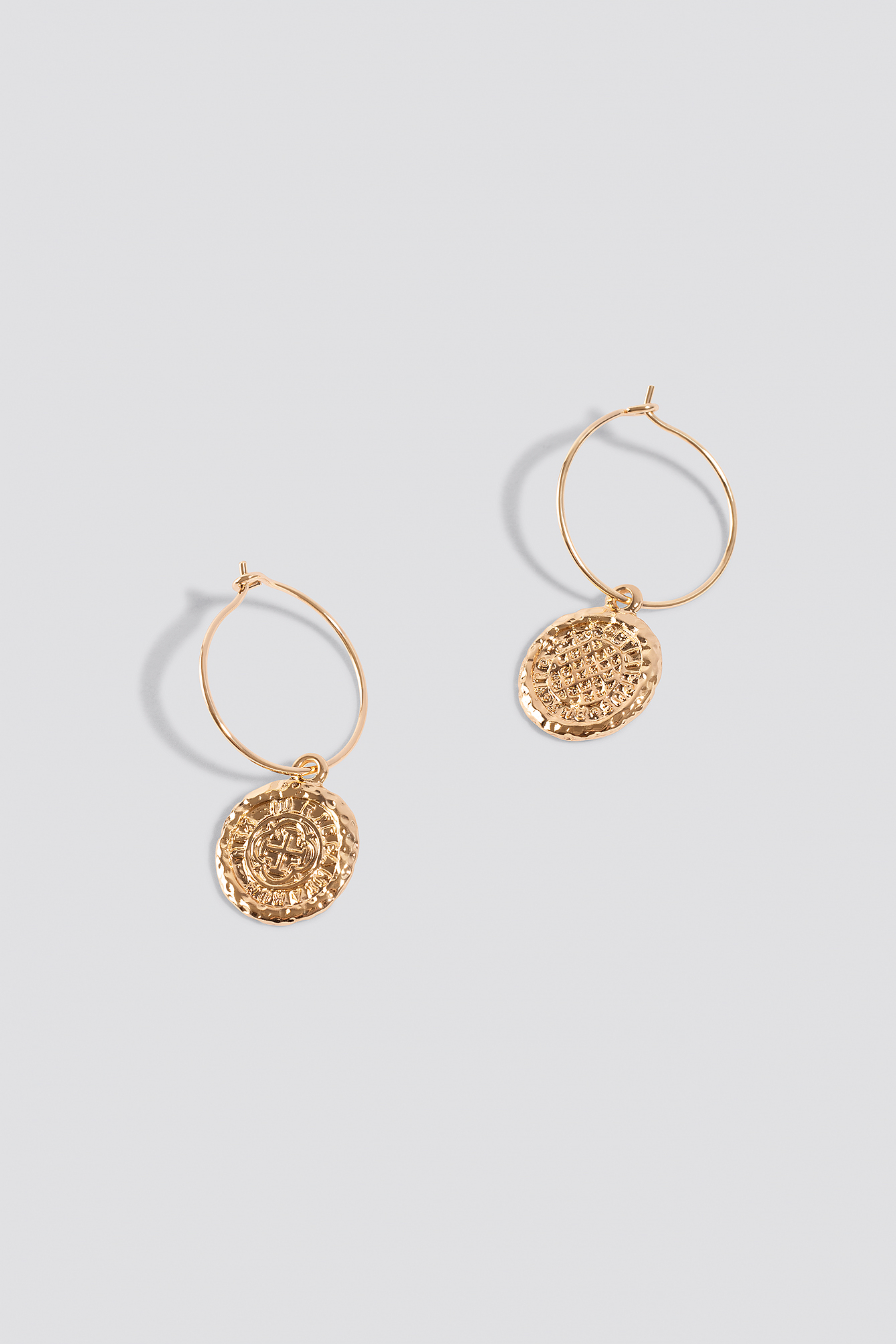 Structured Coin Hoop Earrings NA-KD.COM