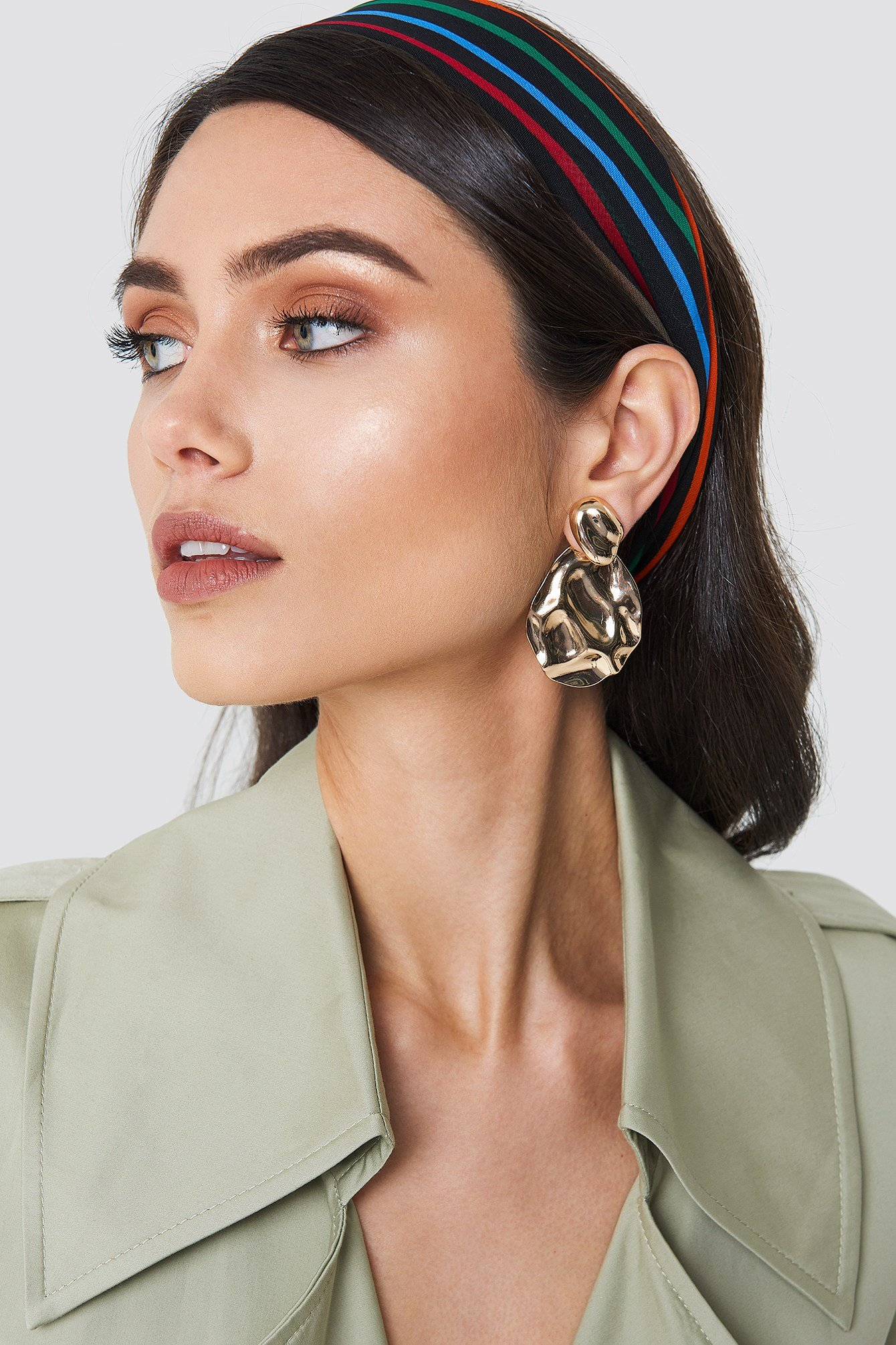 Structured Drop Back Earring NA-KD.COM