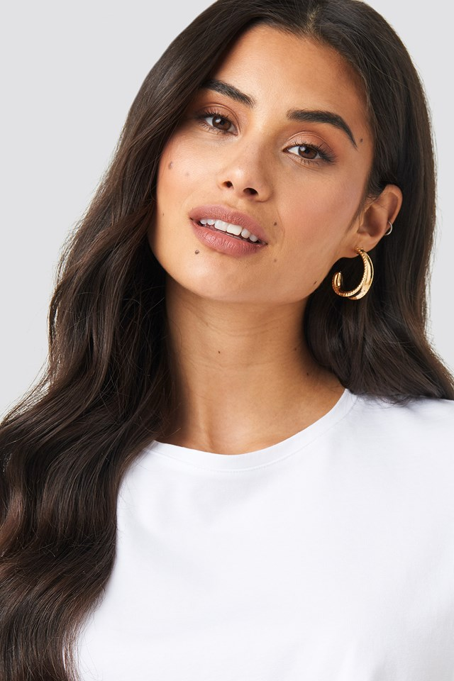 Structured Edge Oval Hoops NA-KD Accessories