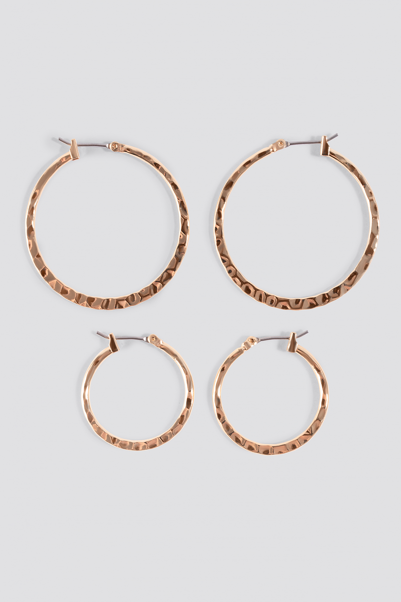 Structured Hoop Earrings (2-pack) NA-KD.COM