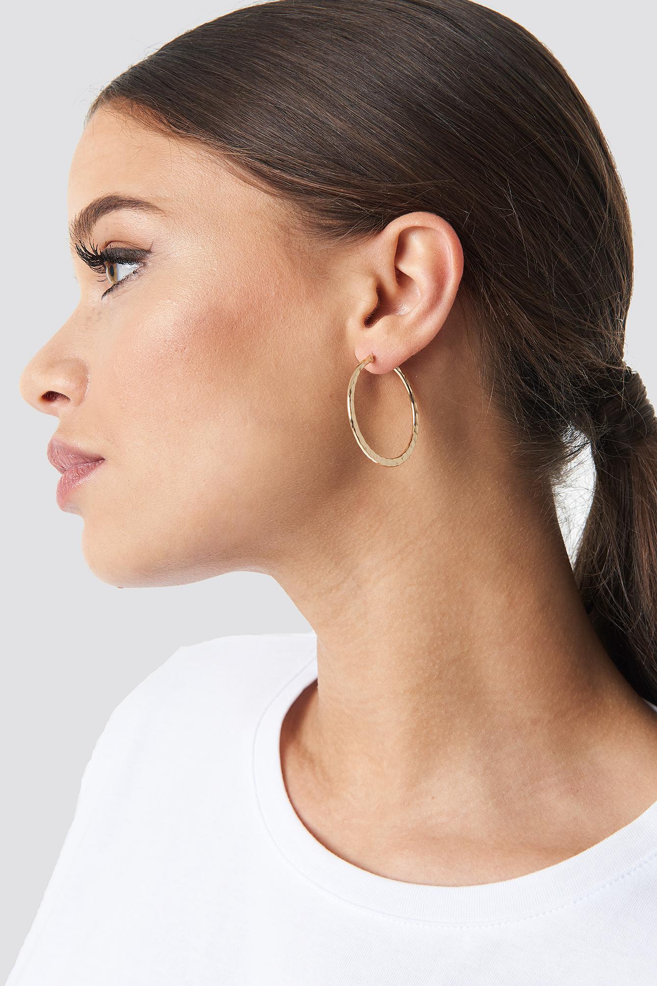 Structured Hoop Earrings (2-pack) NA-KD.COM