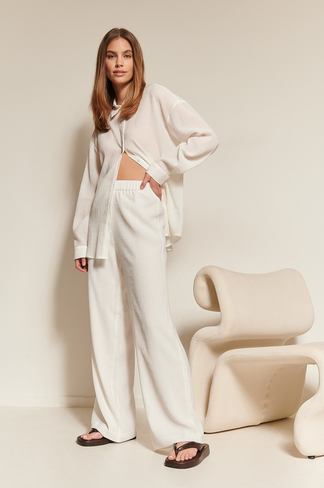 Offwhite Structured Loose Pants