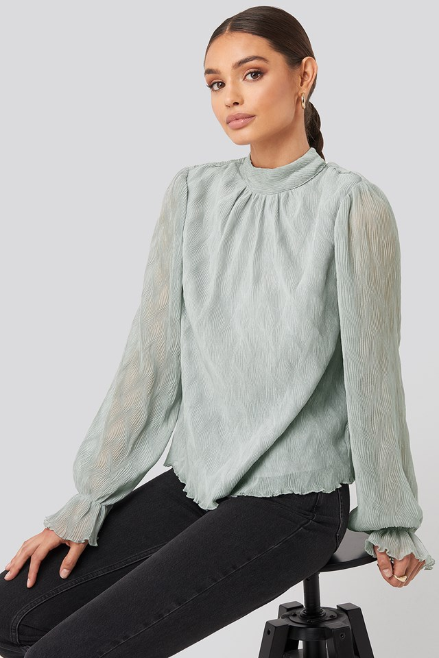 Structured Marked Shoulder Blouse NA-KD Party