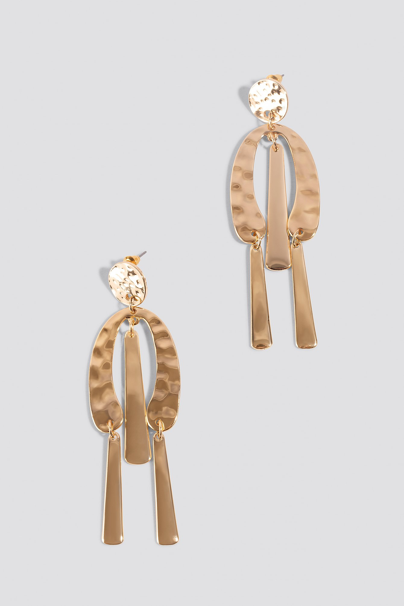 Structured Metal Earrings NA-KD.COM