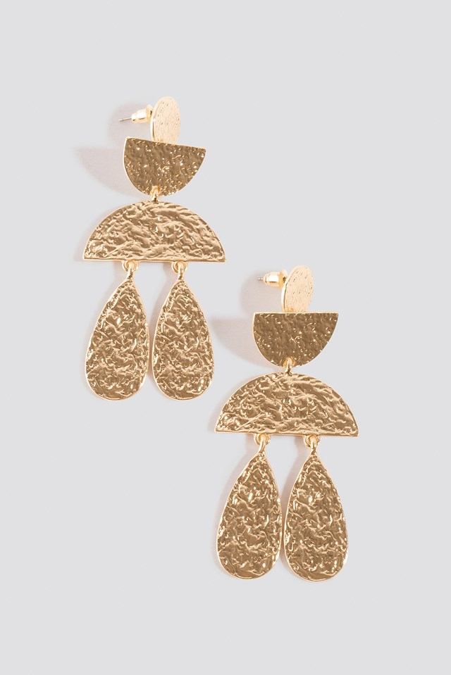 Structured Ornament Earrings Gold