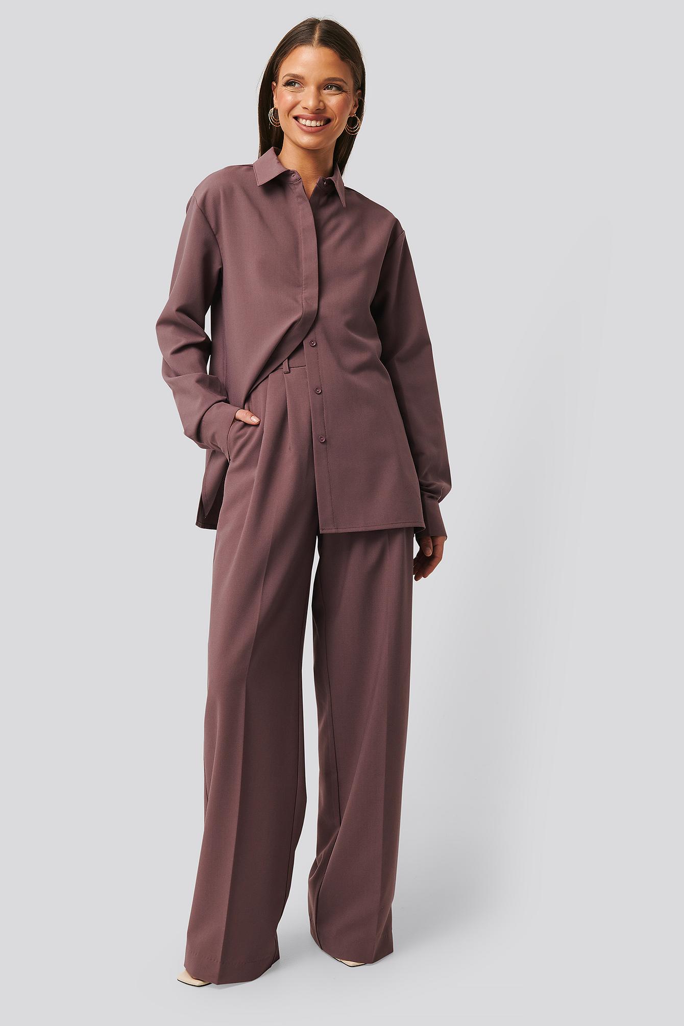 na-kd classic -  Strukturierte Anzughose - Purple