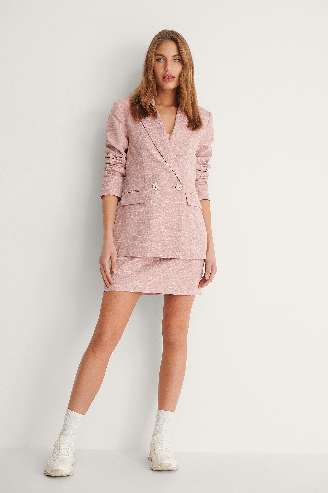 Dusty Pink Structured Skirt