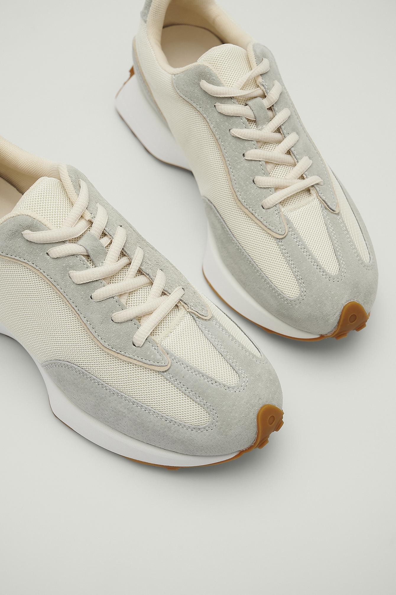 NA-KD Shoes Sneakers med struktureret tynd sål - Grey