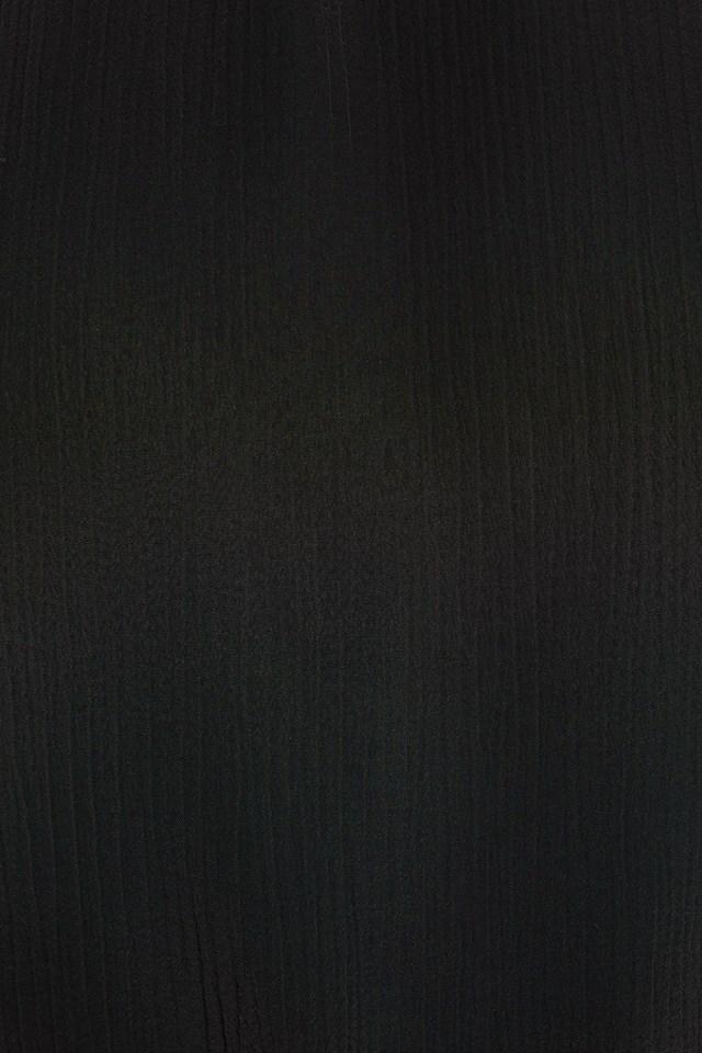 Structured Tie Back Blouse Black
