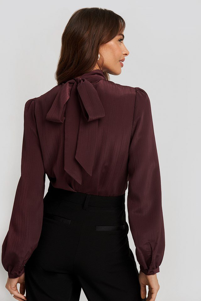 Structured Tie Back Blouse NA-KD Classic