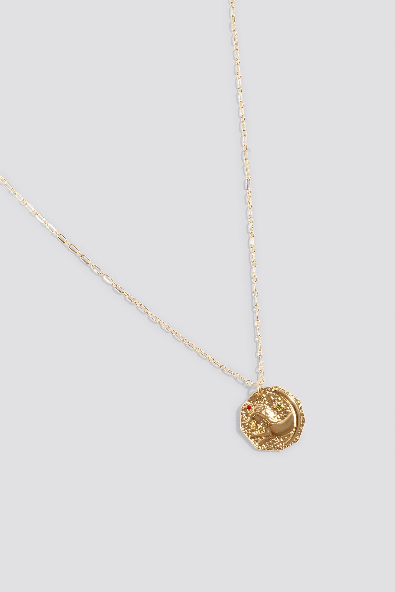 Structured Zodiac Leo Necklace NA-KD.COM