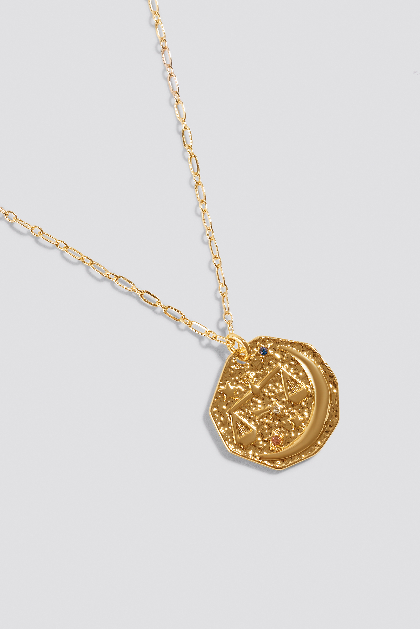 Structured Zodiac Libra Necklace NA-KD.COM