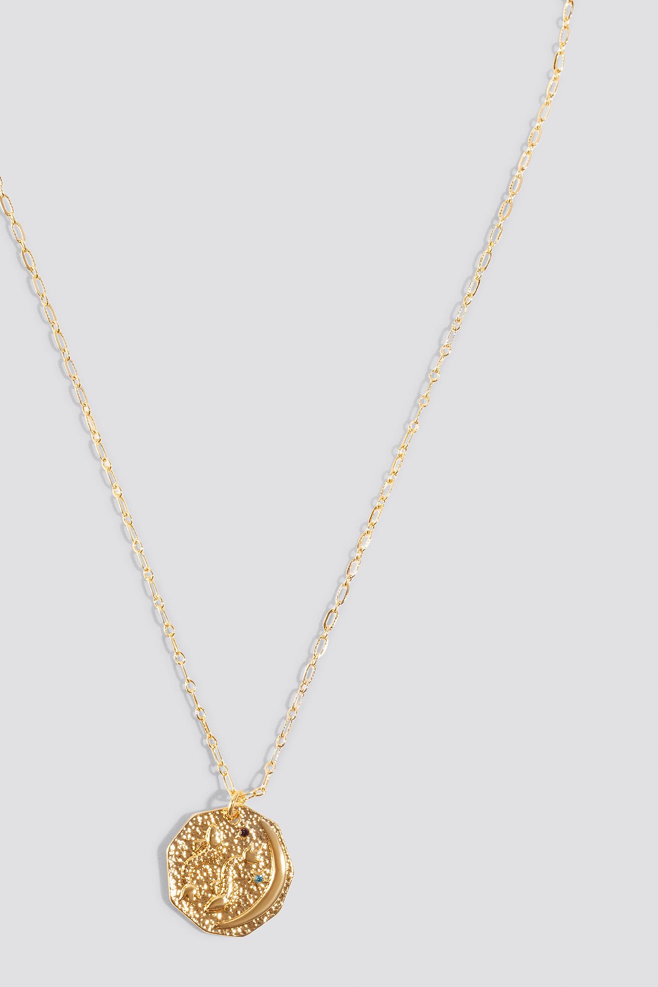 Structured Zodiac Pisces Necklace NA-KD.COM