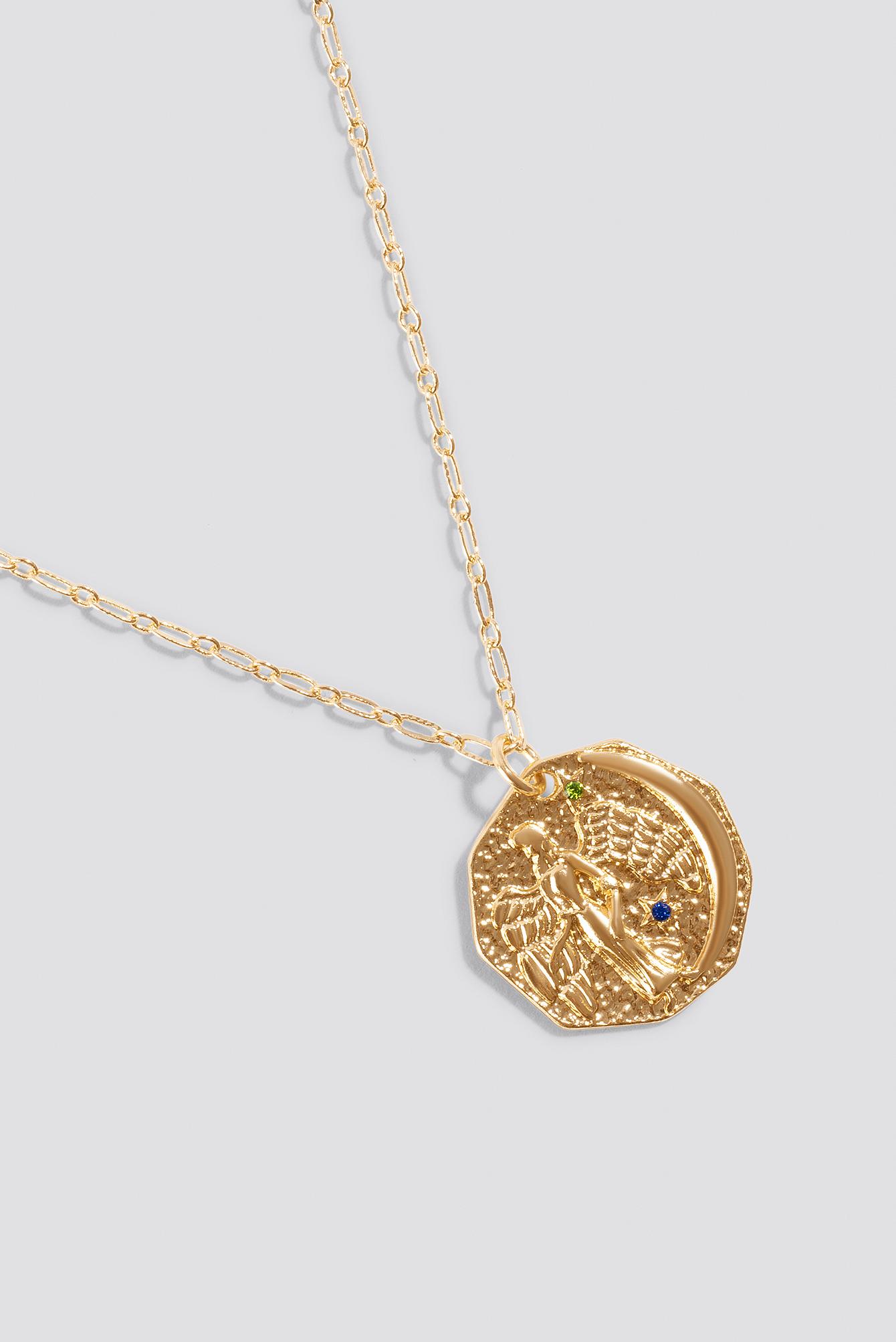 Structured Zodiac Virgo Necklace NA-KD.COM