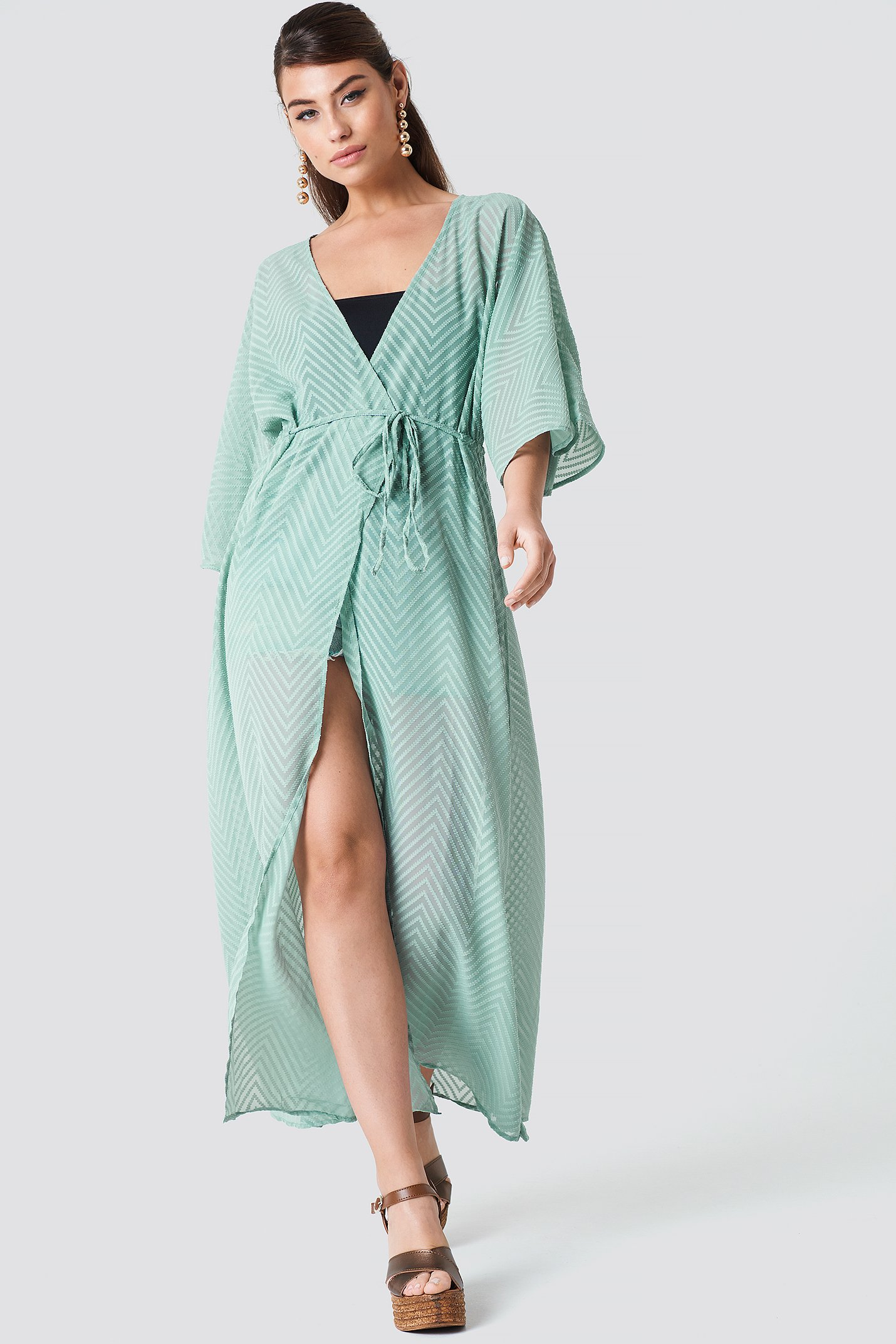 Structured Chiffon Coat Dress NA-KD.COM