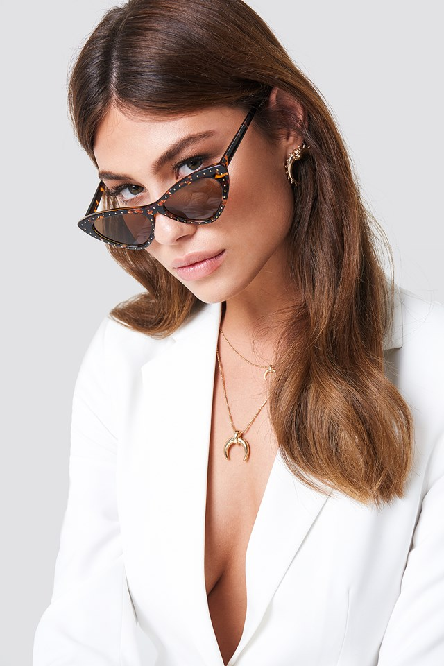 Studded Cat Eye Sunglasses NA-KD Accessories