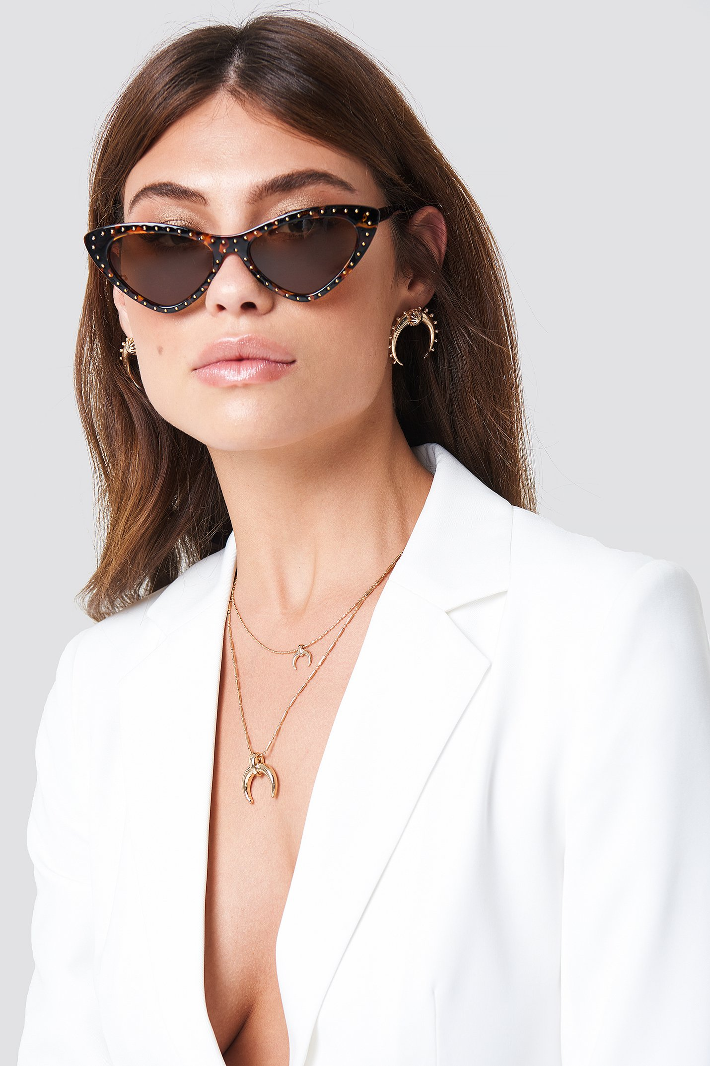 Studded Cat Eye Sunglasses NA-KD.COM