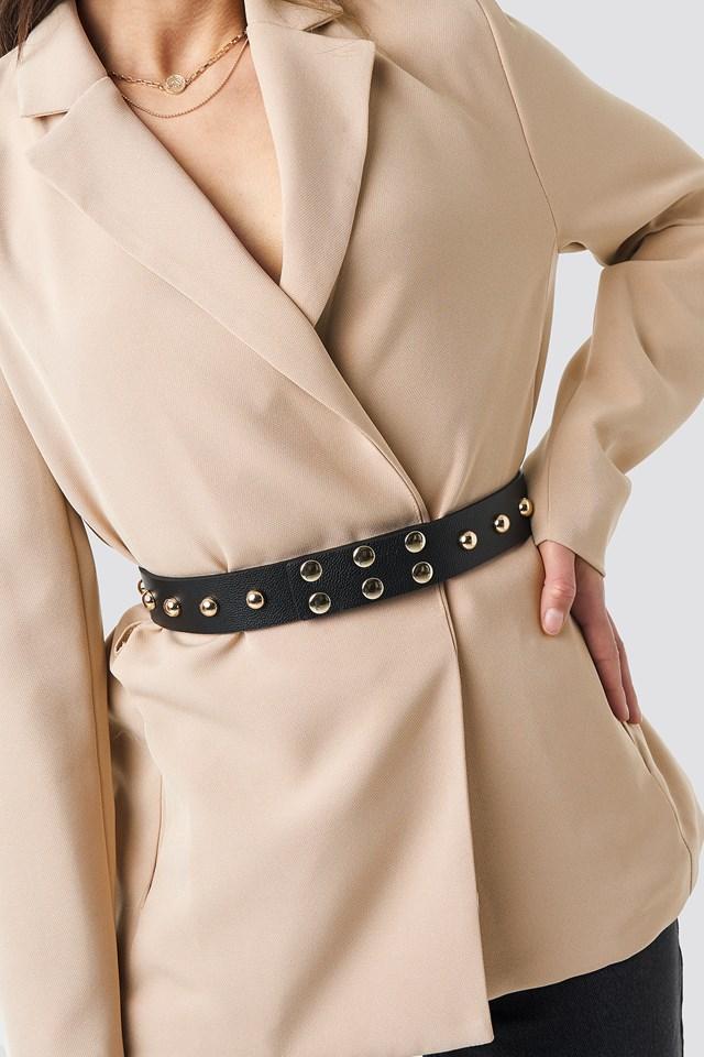 Studded Waist belt Black