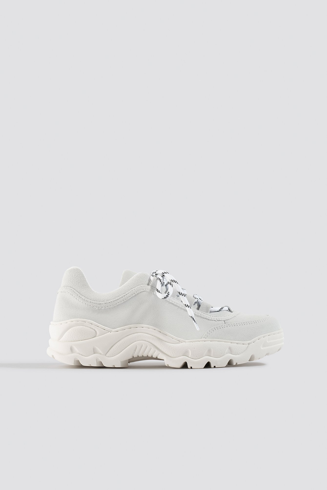 Na-kd Suede Leather Profile Trainers White