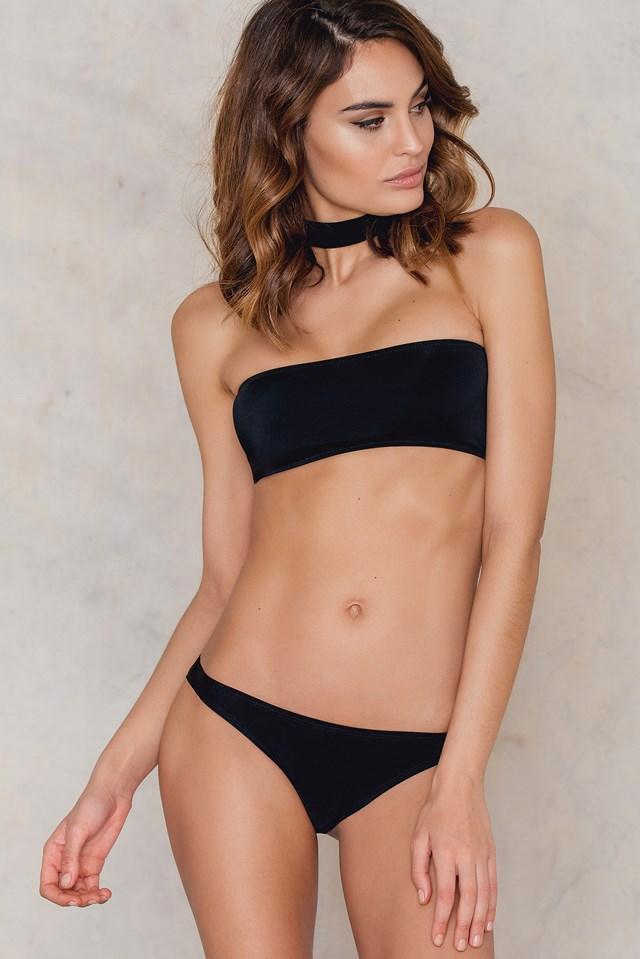 Choker Bandeau Bikini Top Black