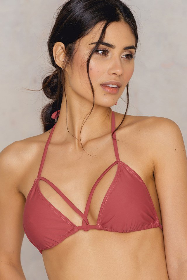 Triangle Strap Top Pink