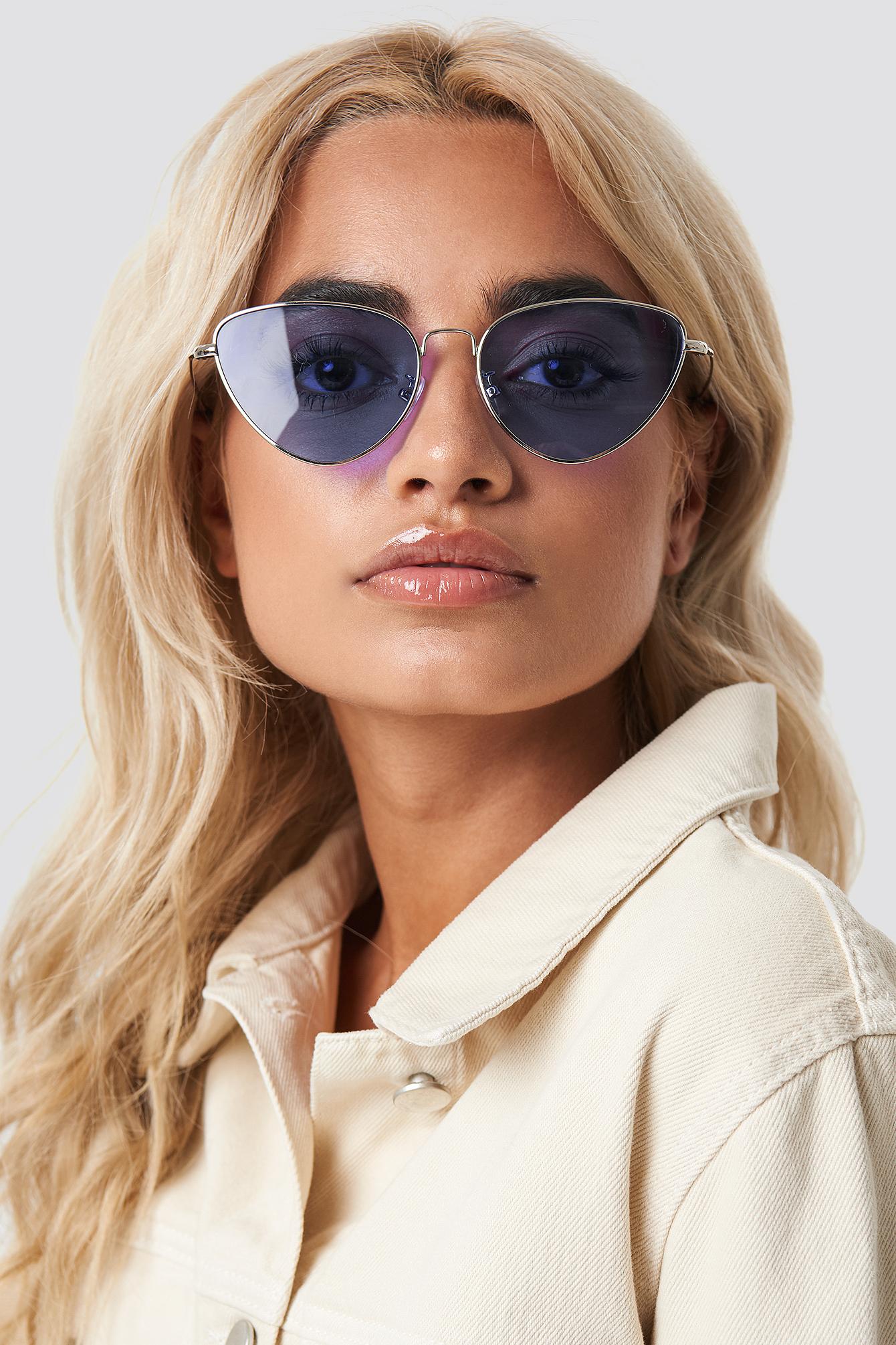 na-kd accessories -  Colored Cateye Sunglasses - Purple