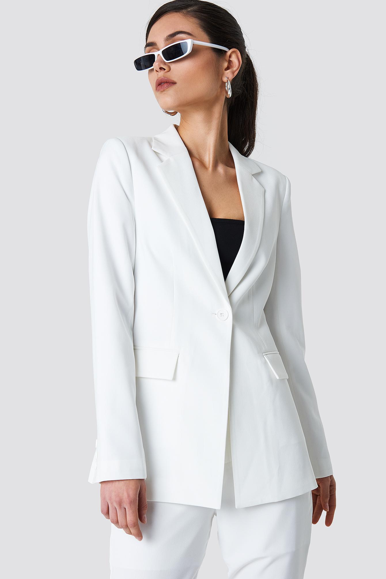 na-kd classic -  Tailored Blazer - White