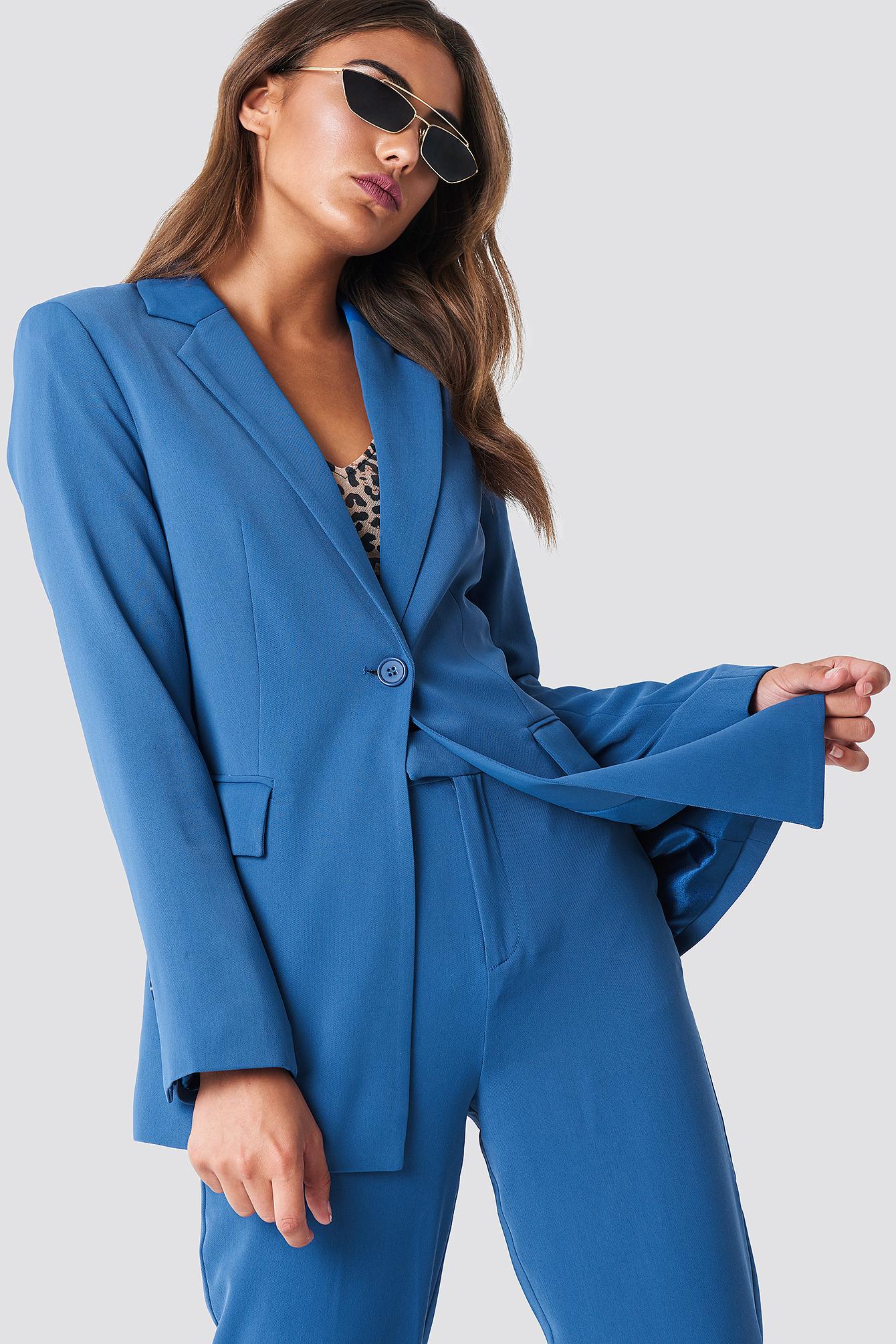 NAKDCLASSIC Tailored Blazer - Blue