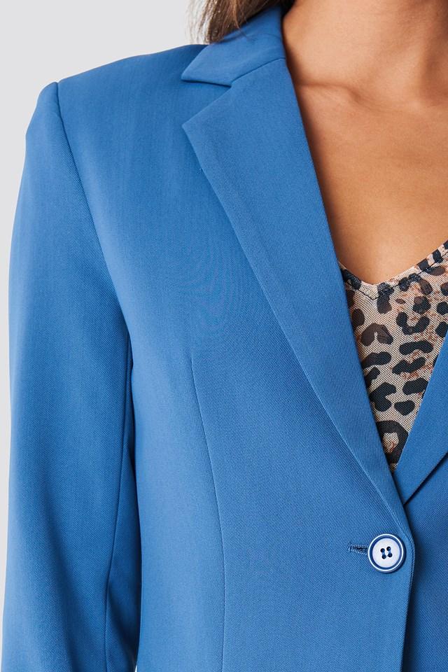 Tailored Blazer Dark Dusty Blue