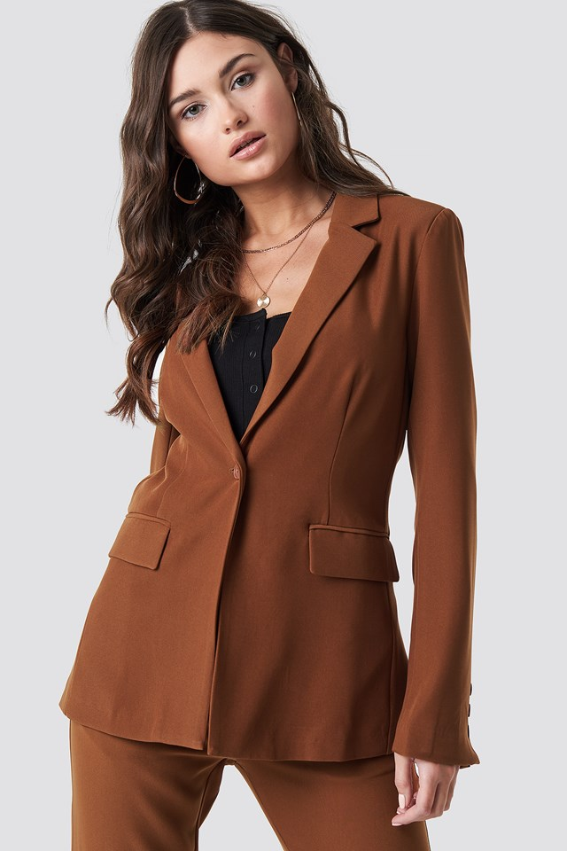 Tailored Blazer Brown