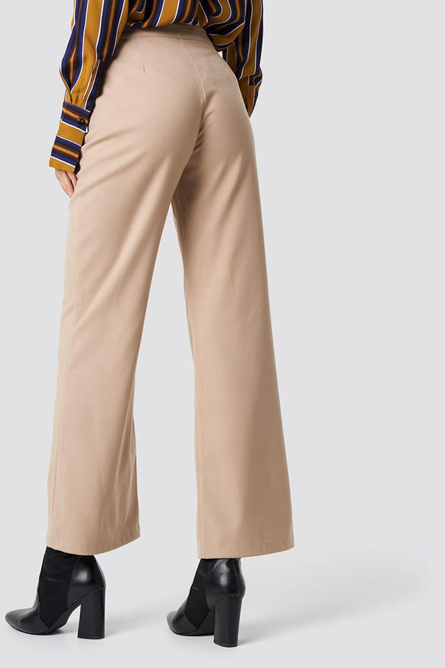 Tailored Flared Pants Beige