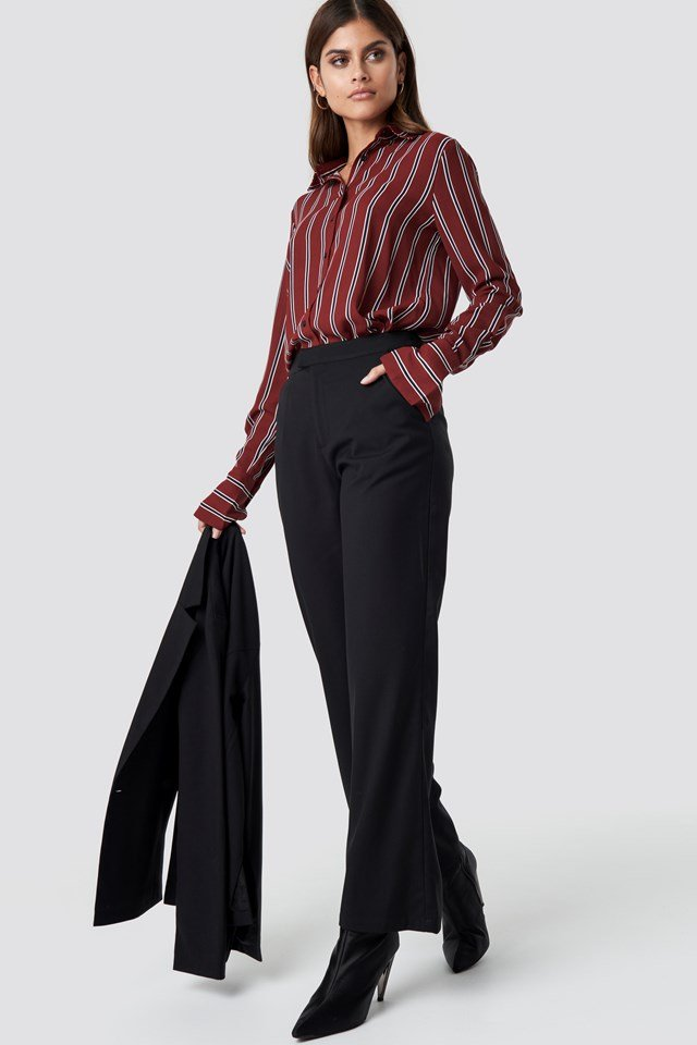 Tailored Flared Pants Black