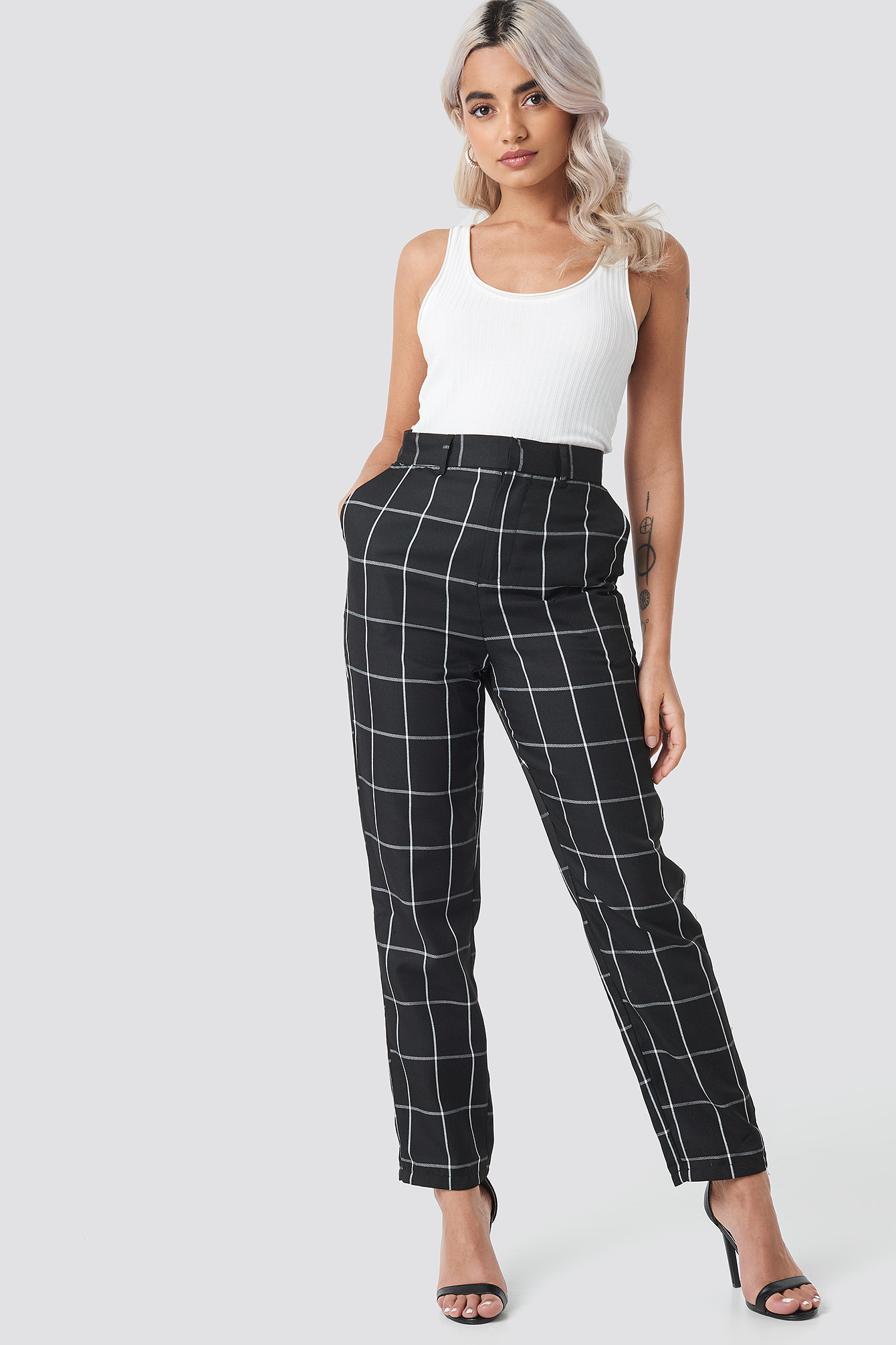 Tailored Plaid Suit Pants NA-KD.COM