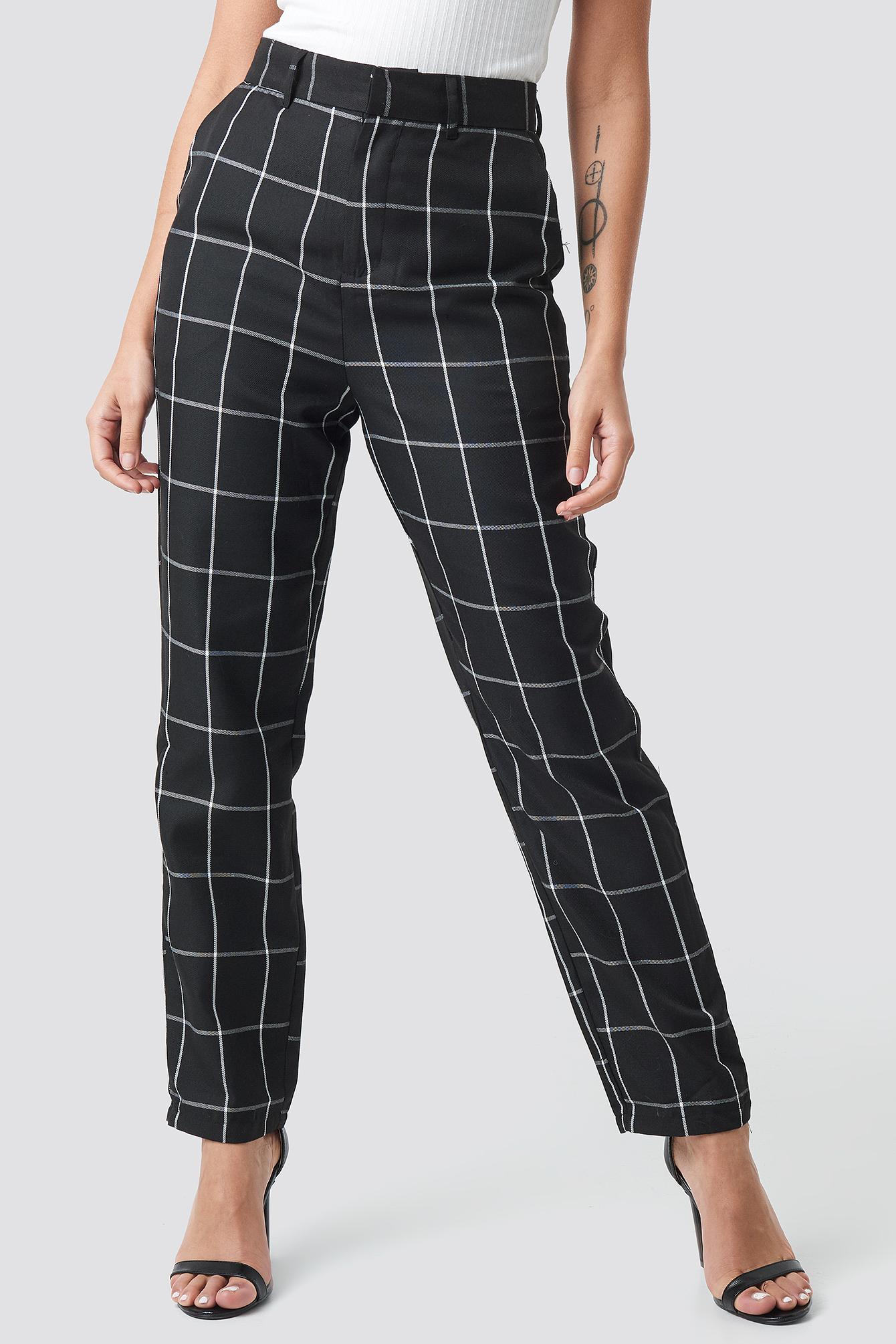 Tailored Plaid Suit Pants NA-KD.COM