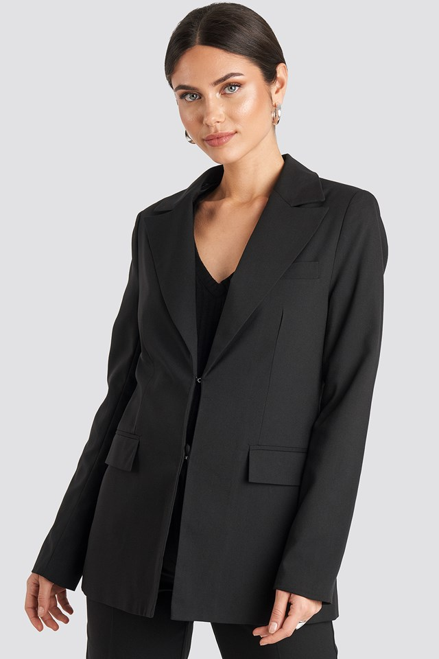 Tailored Suit Blazer Black