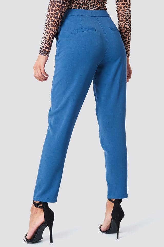 Tailored Suit Pants Dark Dusty Blue