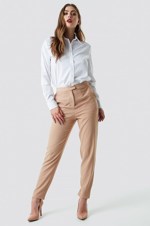 Tailored Suit Pants Dark Sand