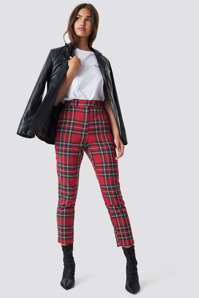 Tartan Suit Pants NA-KD.COM