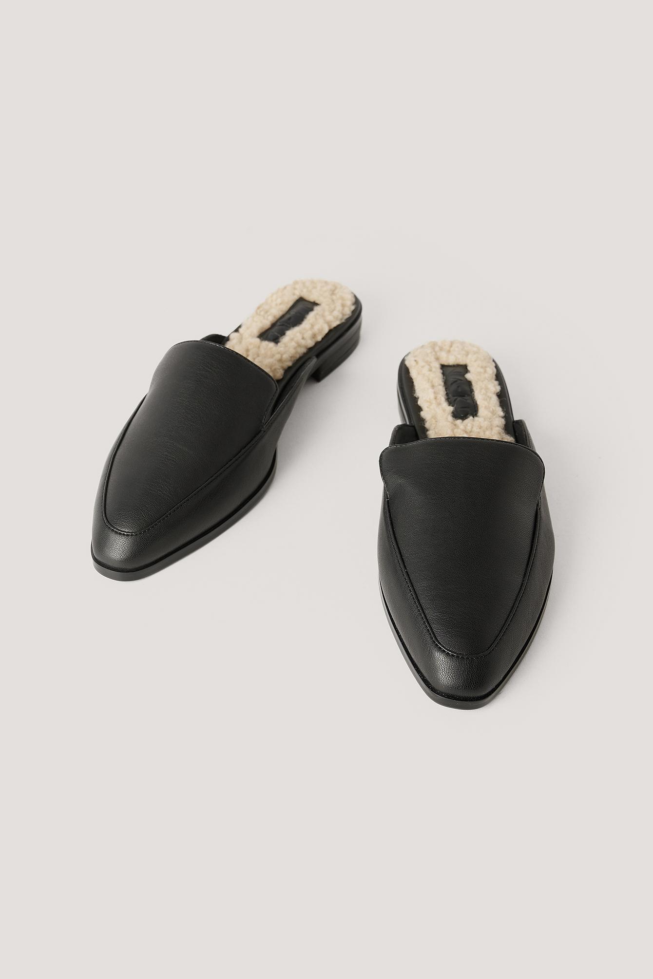 na-kd shoes -  Teddy-Slippers - Black