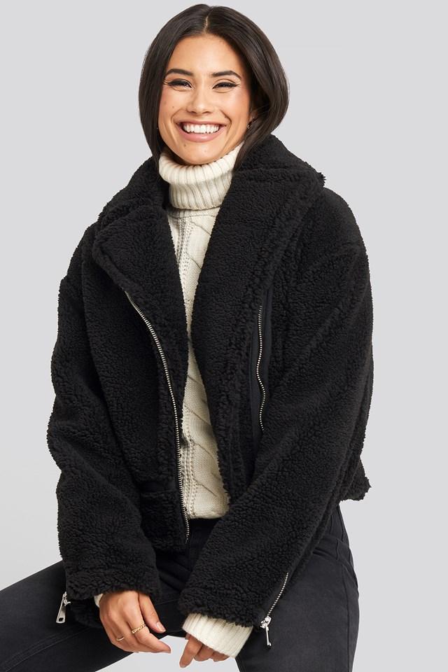Teddy Biker Jacket Black