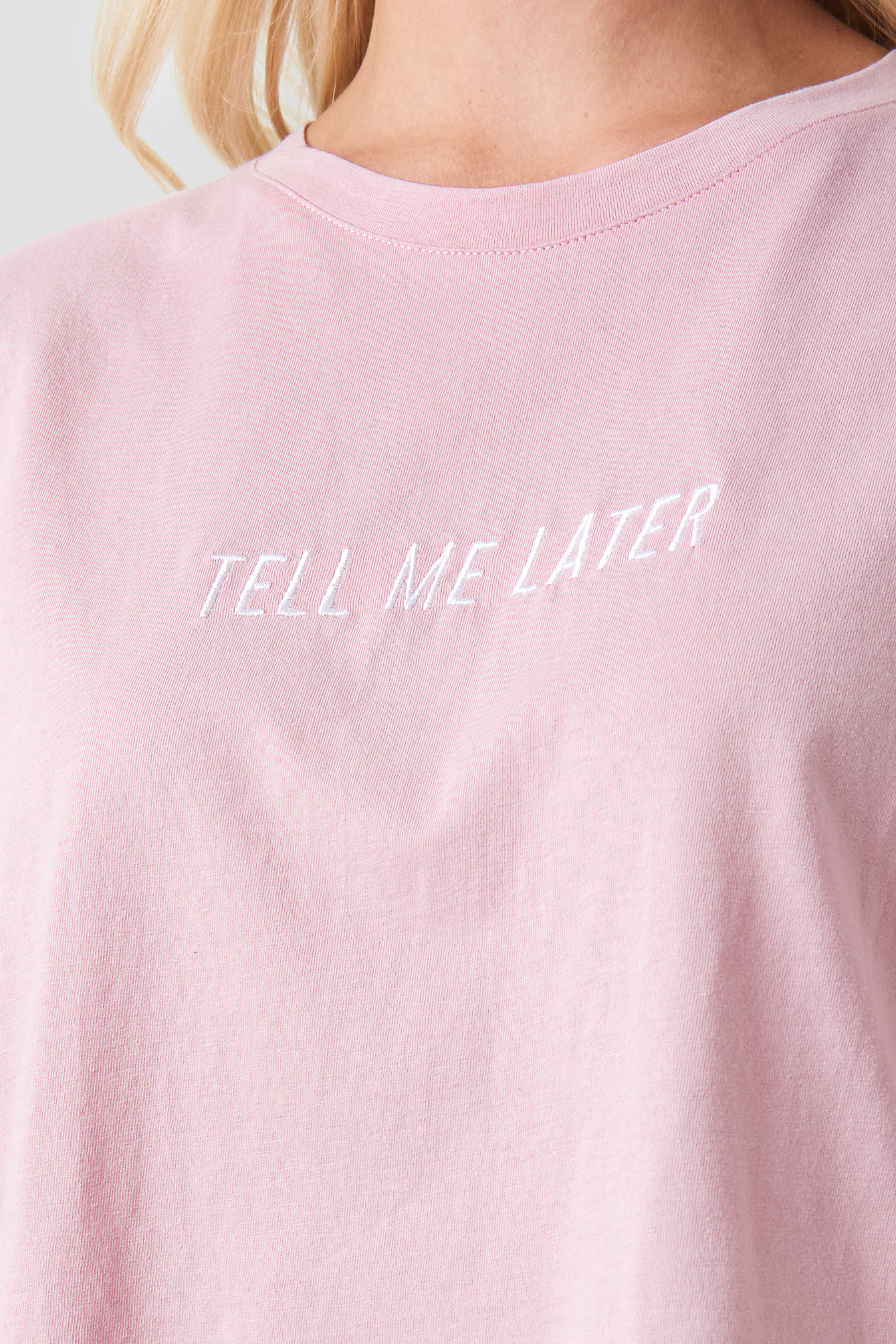 Tell Me Later Oversized Tee NA-KD.COM
