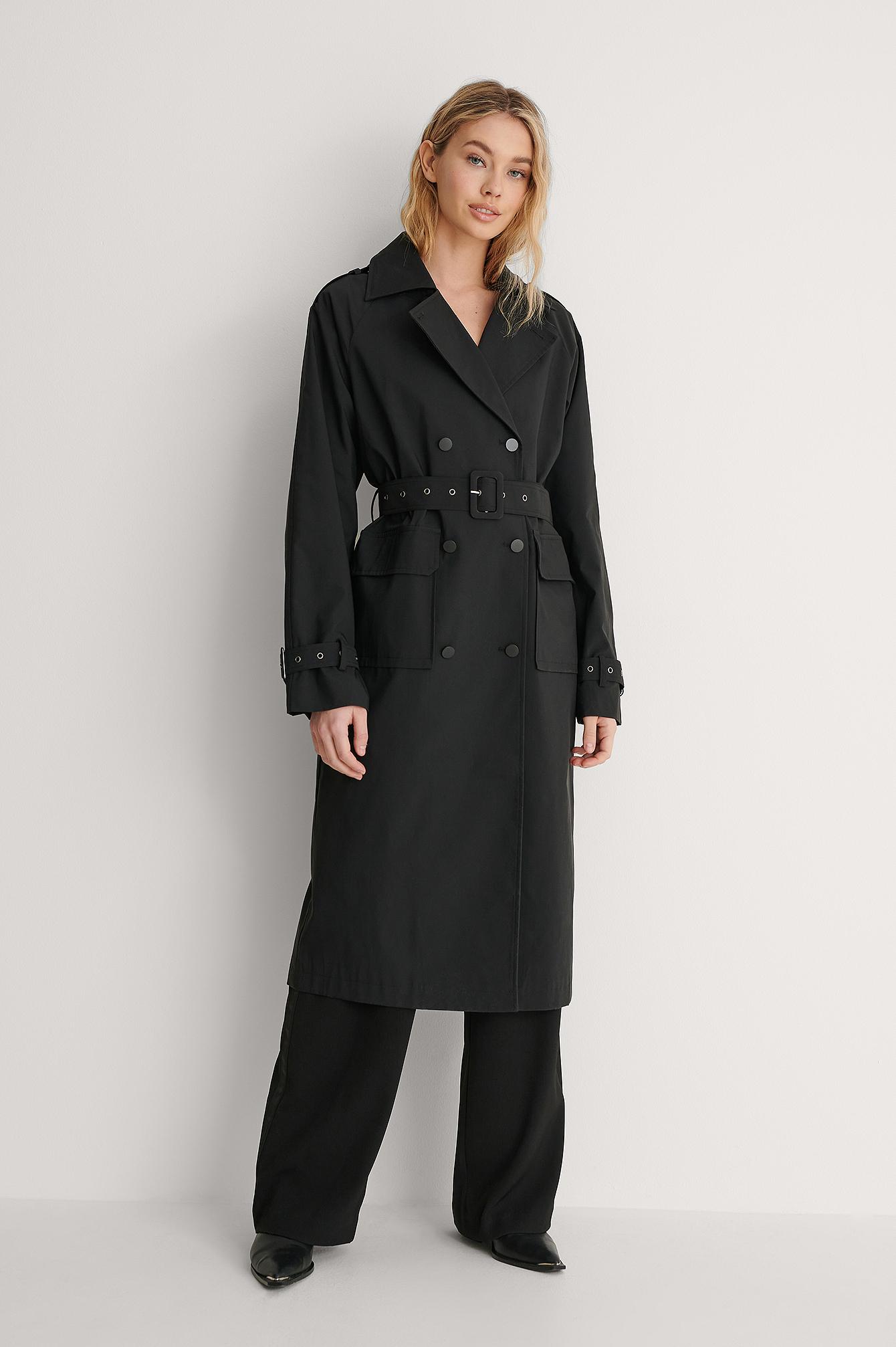 na-kd trend -  Trenchcoat - Black