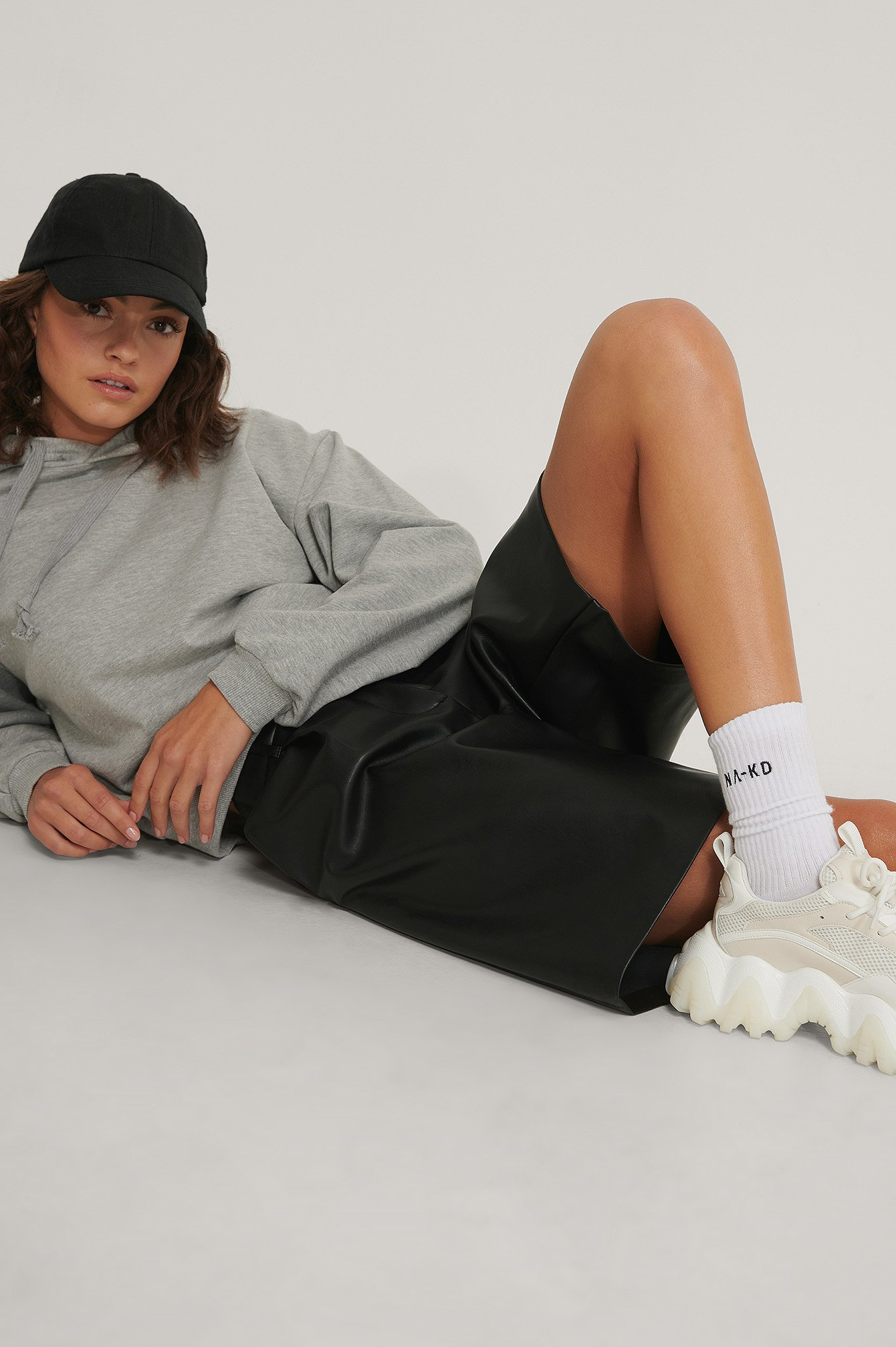 na-kd lingerie -  Organisch 3er-Pack Socken - White