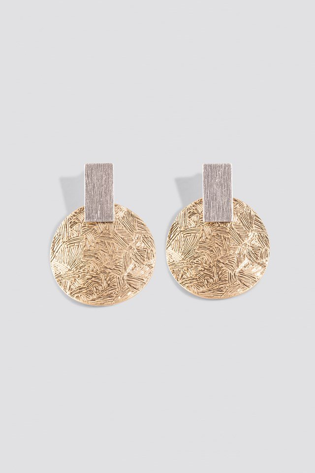 Texture Plate Square Earrings NA-KD Accessories