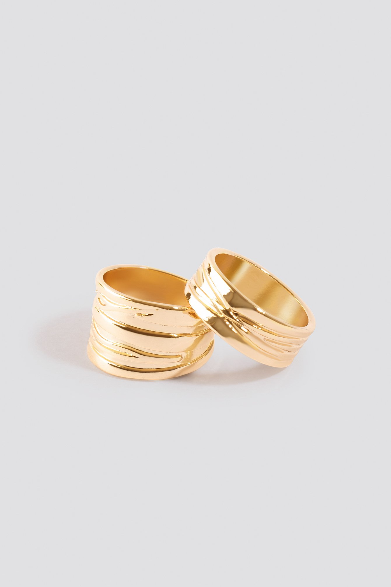 Textured Chunky Rings (2-pack) NA-KD.COM