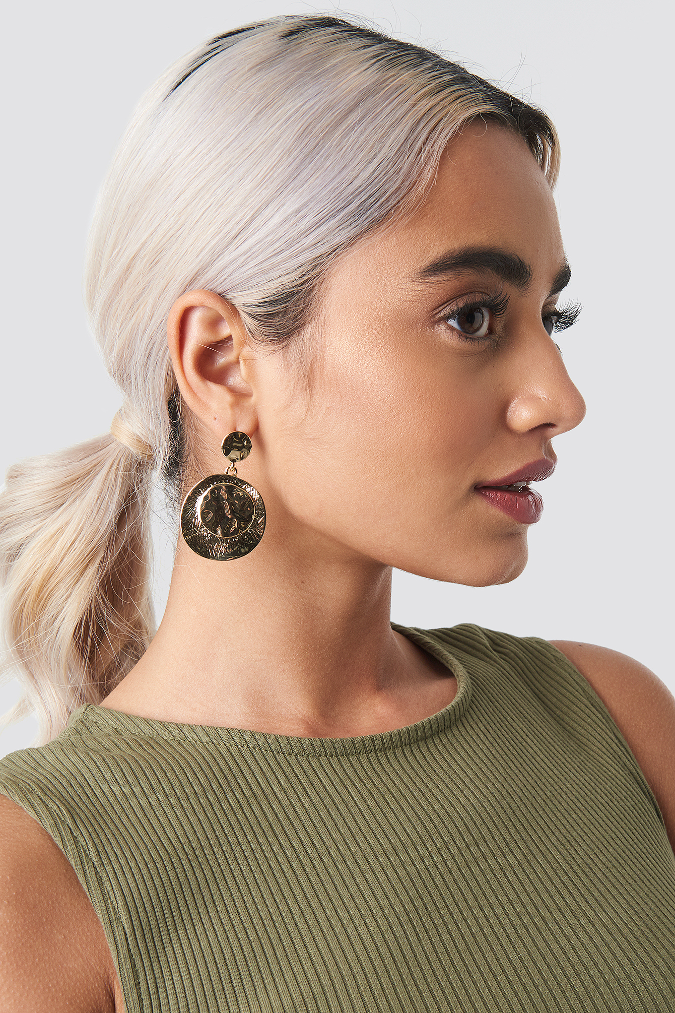 Textured Coin Earrings NA-KD.COM
